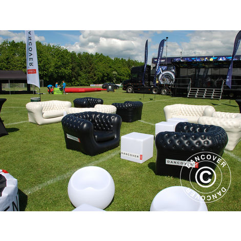 """main image of """"Inflatable sofa, Chesterfield style, 2-seater, Black"""""""
