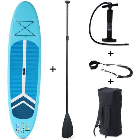 """main image of """"Inflatable stand up paddle board - Julio 9'3'' - with high-pressure pump, paddle, leash and storage bag"""""""