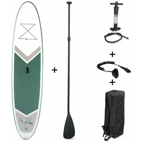 """main image of """"Inflatable stand up paddle - Rico 10\'10\"""" - with high-pressure pump, paddle, leash and storage bag"""""""