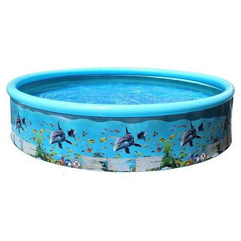 """main image of """"Inflatable Swimming Pool, Children's Pool Ocean World for Baby, Child, Children, Infant, Toddler For Outdoor, Garden, Backyard, Water Party, 125x30cm"""""""