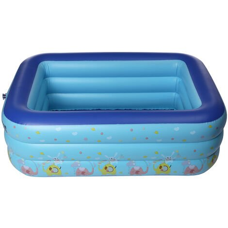 """main image of """"Inflatable Swimming Pool Family Patio Garden Outdoor Rectangular Paddling"""""""