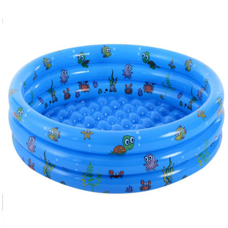 Inflatable Swimming Pool Kids Swimming Pool Safe and Durable Soft Bottom Thickened, Children's Paddling Pool Indoor Outdoor for Toddler Little Kids Girl Boy 100cm