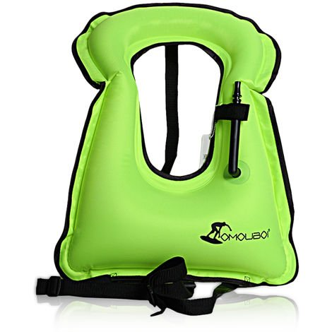 Inflatable swimming vest life jacket