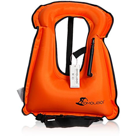 Inflatable swimming vest life jacket for snorkeling equipment