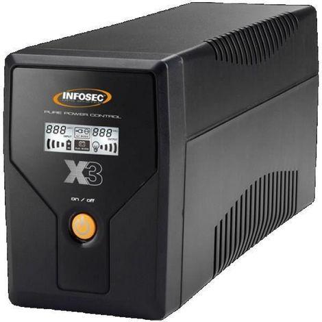 INFOSEC UPS SYSTEM Onduleur X3 EX 650 - LCD - USB