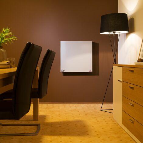 Infrared heater 450 W - panel heater, bathroom heater, garage heater - white
