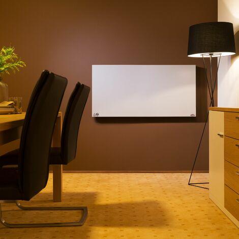 Infrared heater 850 W - panel heater, bathroom heater, garage heater - white