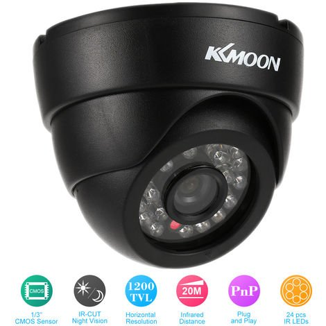 Infrared hemisphere analog camera 1200 lines 24 lights KKmoon TP-W703B