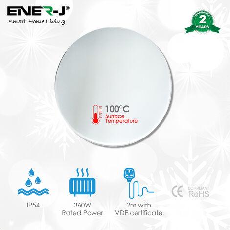 Infrared Mirror heater-Round 850mm dia, 360W (Tempered safety mirror)