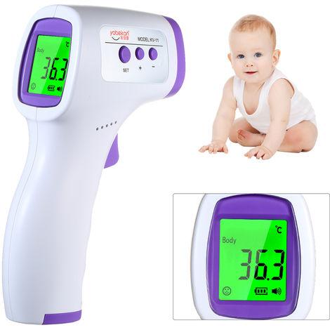 Infrarrojo Digital termometro de la frente, termometro de infrarrojos, sin contacto Termometro