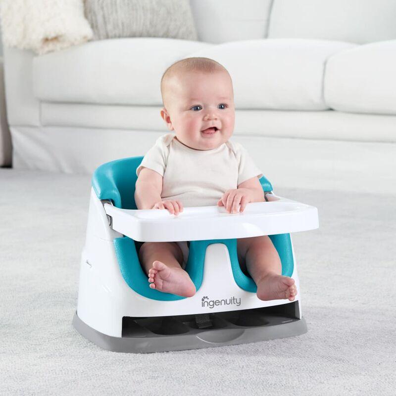 Ingenuity Rialzo Sedia Bambini 2 in 1 Baby Base Blu Pavone