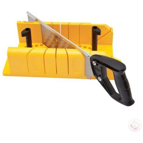 Ingletadora de Plástico con Sistema Bloqueo y Serrucho STANLEY 1-20-600 (6 unidades)