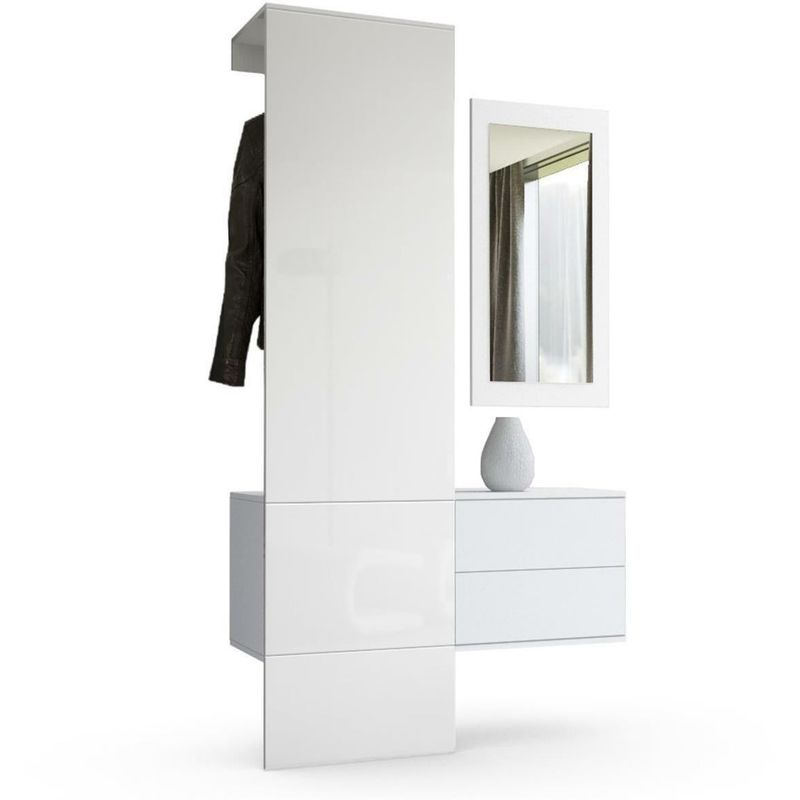Appendiabiti Entrata.Ingresso Mobile Corridoio Lucy Appendiabiti Entrata Moderna Con Specchio