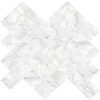 InHome Herringbone Carrara Peel & Stick Backsplash Tiles