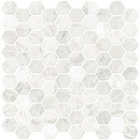 InHome Hexagon Marble Peel & Stick Backsplash Tiles