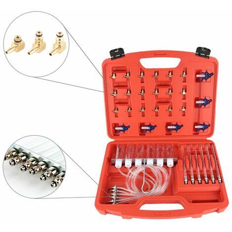 Injecteur diesel Testeur de rampe commune Les injecteurs vérifient le débit de retour - Rouge