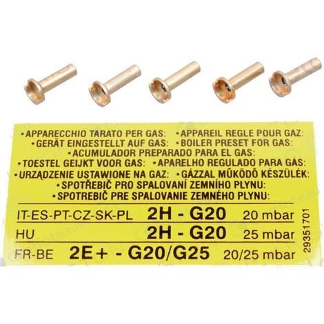 Injecteurs de veilleuse gaz naturel (5 pièces)