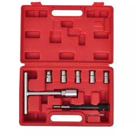 Injektoren Dichtsitzfräser Set, 7-teilig 07637