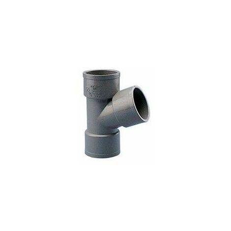 Injerto de PVC gris de 40mm y 67º Hembra Hembra de Crearplast