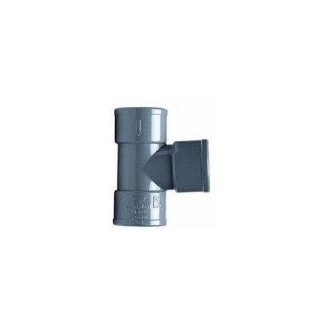 Injerto de PVC gris de 40mm y 87º Hembra Hembra de Crearplast