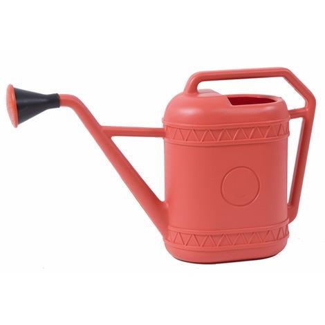 Plastica rossa 6 litri LT ANNAFFIATOIO CON ROSE /& due manici da giardino irrigazione