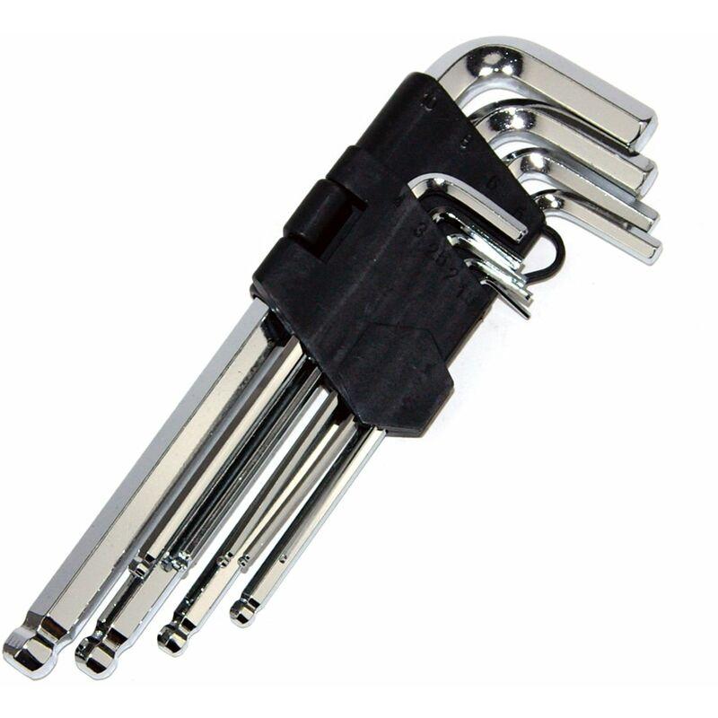 Winkelschlüssel Innensechskant Set 1,5-10mm Sechskant Imbus Kugelkopf EGA 9.tlg