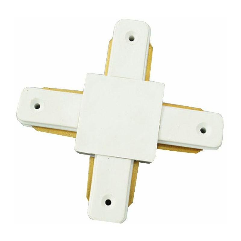 Connettore giunto a croce innesto binario elettrificato faro led manuale - BS