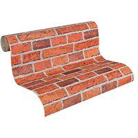 Innova 7798-16 Red Brick Effect Wallpaper