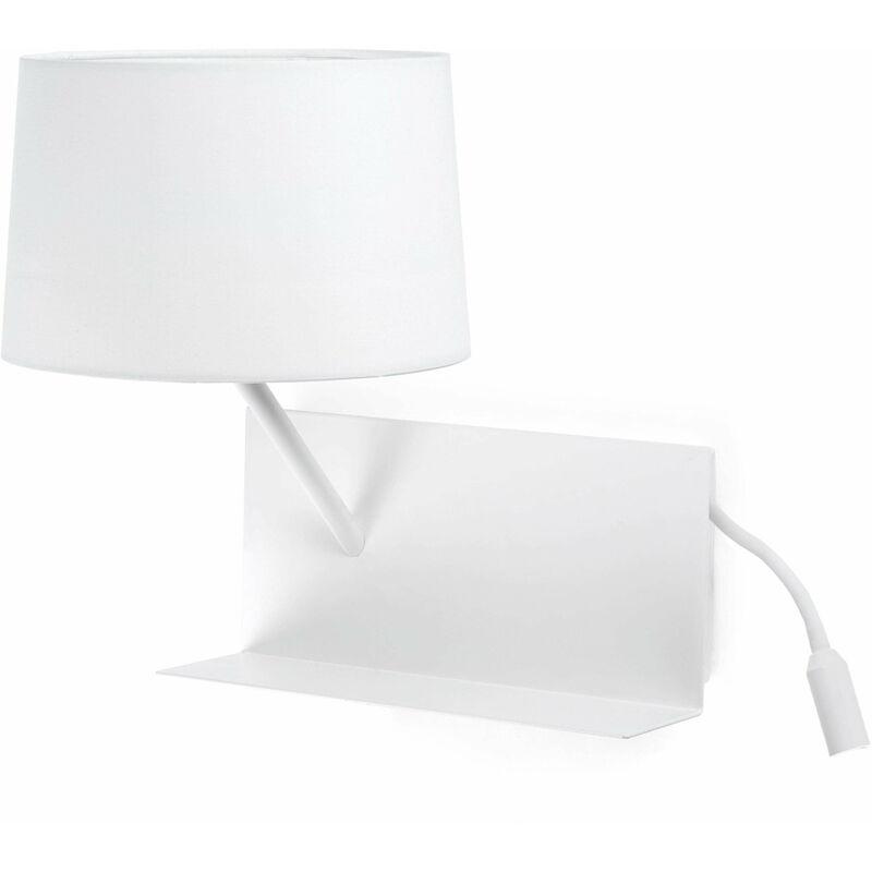 08-faro - Handliche 1-Licht weiße Wandleuchte