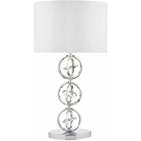 Innsbruck polished chrome table lamp and 1 bulb
