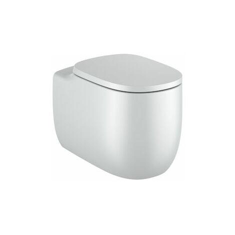 Inodoro Beyond con taza Rimless adosado a pared con salida dual perla (incluye taza y tapa amortiguada)