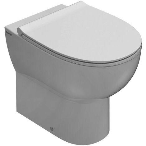 Inodoro cerámico en suelo, montaje adosado 54.36 Globo 4ALL MD001BI | Blanco - Globo BI