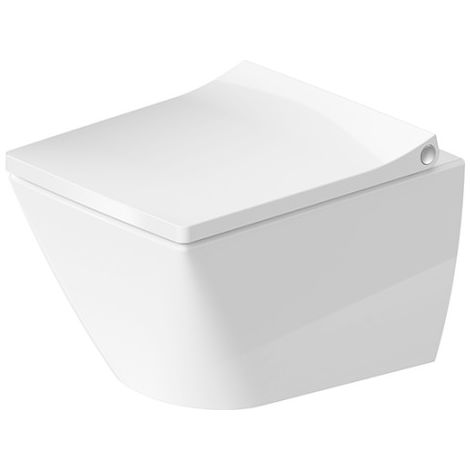 Inodoro compacto de pared Duravit Viu 251109, sin marco, 370x480 mm, color: Blanco con Wondergliss - 25730900001