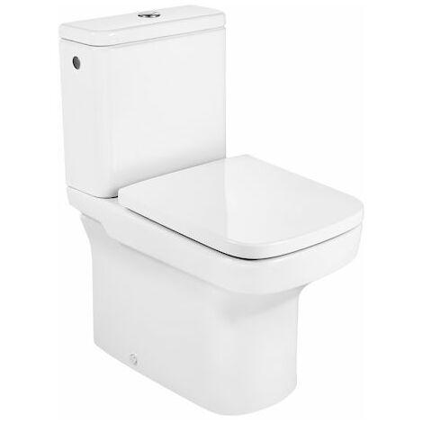 Inodoro Dama compacto alimentación lateral, color blanco.