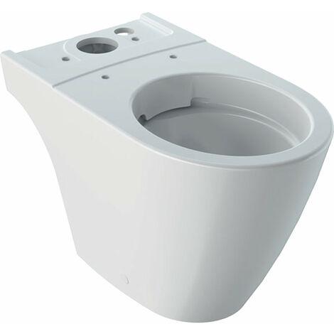 Inodoro de lavado Geberit iCon, sin borde de descarga, 6l, de pie, salida Multi 200460, color: Blanco, con KeraTect - 200460600