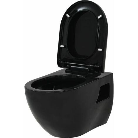 Inodoro de pared de cerámica negro