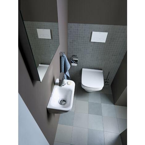 Inodoro mural Duravit DuraStyle 54cm, lavavajillas, sin borde, sin borde, fijación oculta (Durafix incluido), color: Blanco con Wondergliss - 25510900001