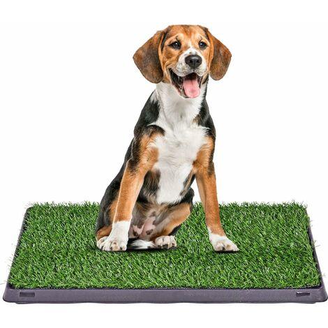 Inodoro para Mascotas Perro Alfombra Césped Artificial para Entrenamiento Exterior Interior Hogar