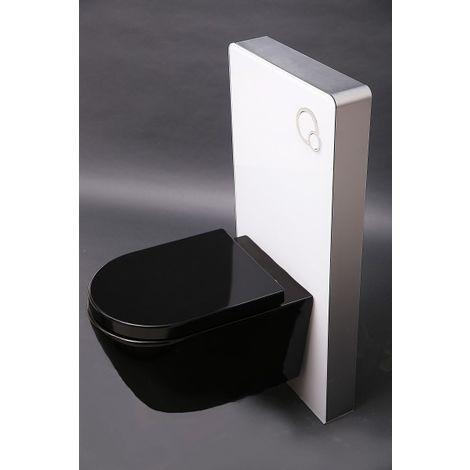 Inodoro suspendido B-8030 negro + asiento softclose