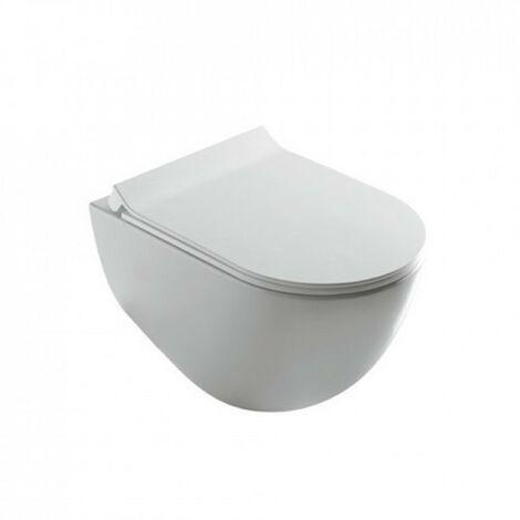 Inodoro suspendido sin brida 36x56x36 cm de cerámica Galassia Dream   Blanco