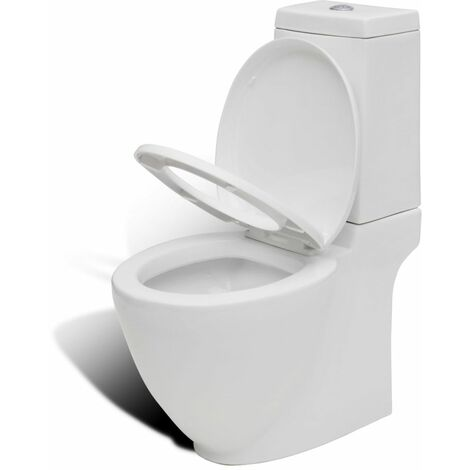 Inodoro WC de ceramica blanco