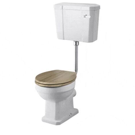 Inodoro WC Tradicional ABBOTT de porcelana con tanque semi-suspendido