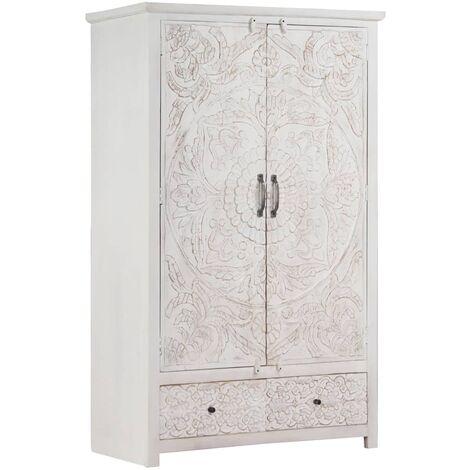 Inola 2 Door Wardrobe by Bloomsbury Market - White