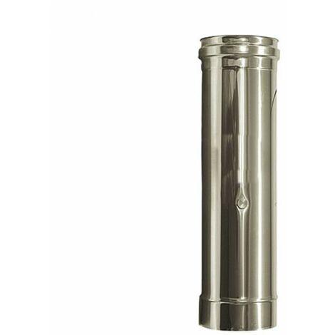inox conduit ÉLÉMENT FUMÉES D. 80 mm. TUBE ACIER INOX 316