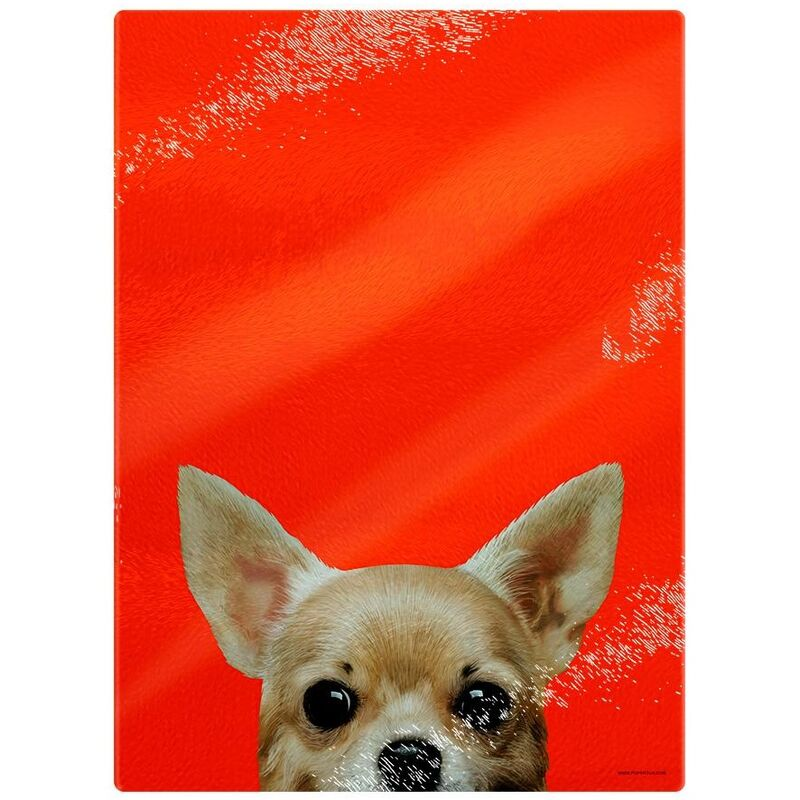 Image of Inquisitive Creatures Chihuahua Chopping Board (One Size) (Orange)