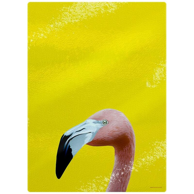 Image of Flamingo Chopping Board (One Size) (Yellow) - Inquisitive Creatures
