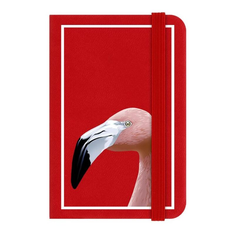 Image of Flamingo Notebook (One Size) (Red) - Inquisitive Creatures