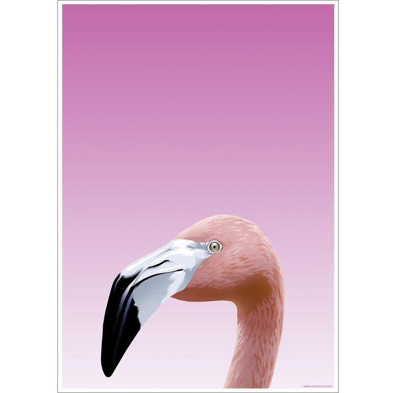 Image of Flamingo Poster (One Size) (Pink) - Inquisitive Creatures
