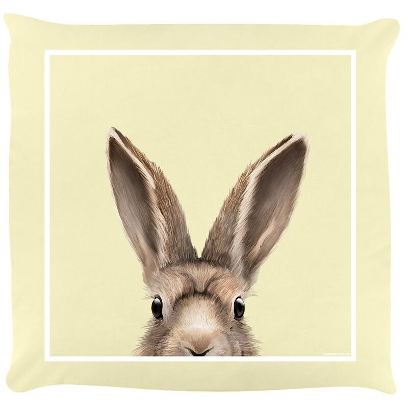 Image of Hare Filled Cushion (One Size) (Cream) - Inquisitive Creatures