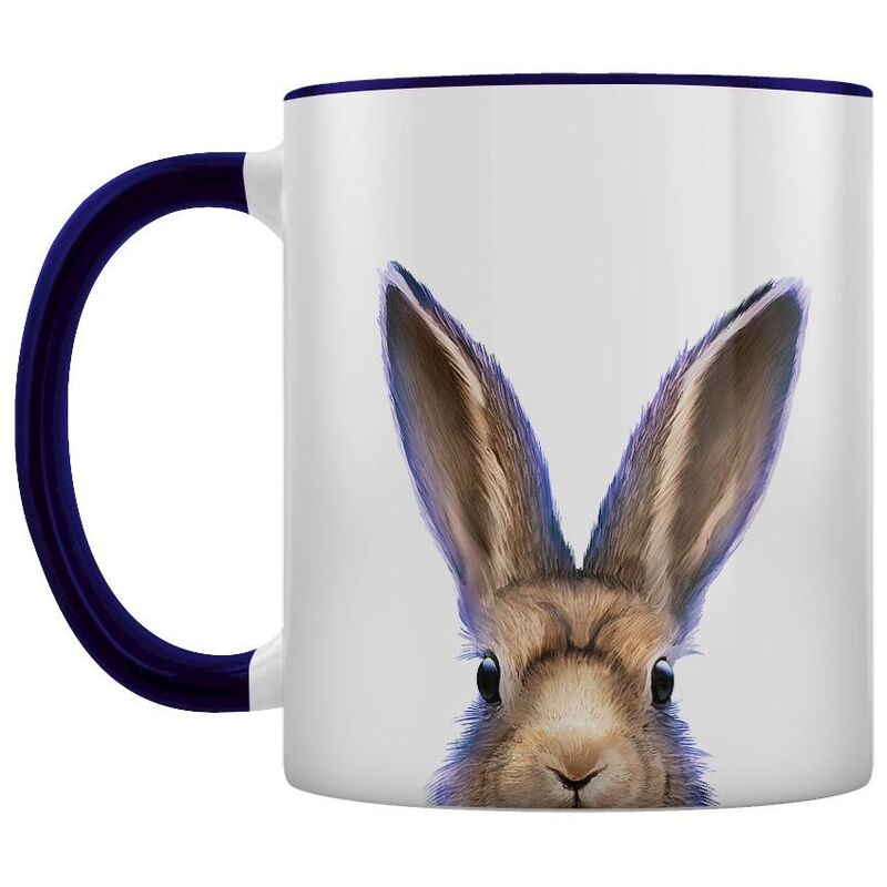 Image of Hare Two Tone Mug (One Size) (White/Deep Purple) - Inquisitive Creatures